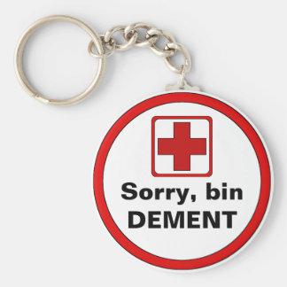 Attention - dementia basic round button keychain