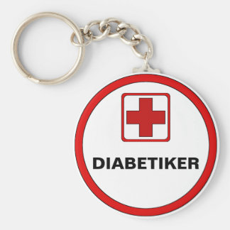 Attention - DIABETICS Keychain