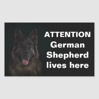 Attention german shepherd lives here sticker