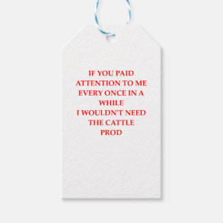 ATTENTION GIFT TAGS