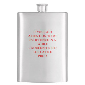 ATTENTION HIP FLASK
