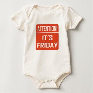 Attention It's Friday Baby Bodysuit