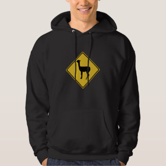 Attention Llamas, Traffic Sign, Argentina Hoodie