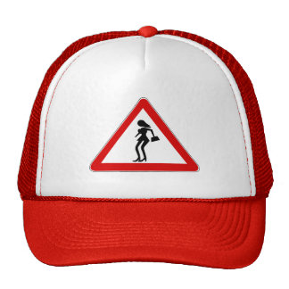 Attention Prostitutes (1), Traffic Sign, Italy Trucker Hat