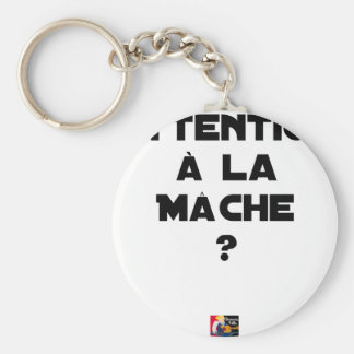 ATTENTION WITH CORN SALAD? - Word games Keychain