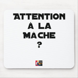 ATTENTION WITH CORN SALAD? - Word games Mouse Pad