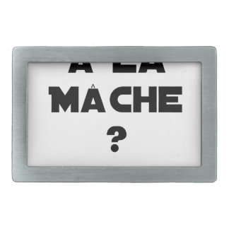 ATTENTION WITH CORN SALAD? - Word games Rectangular Belt Buckle