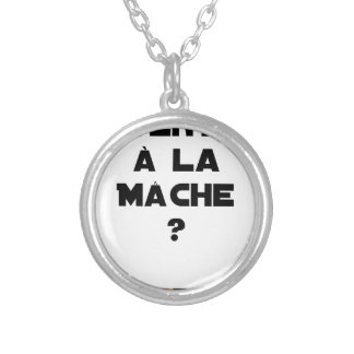 ATTENTION WITH CORN SALAD? - Word games Silver Plated Necklace