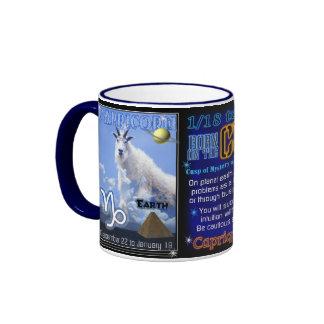 Atterrisseur bleu d'équilibre de zodiaque de tranc mug