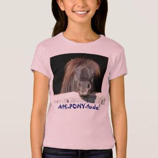 Atti-PONY-tude!  Pony face T-Shirt