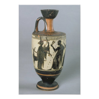 Attic black-figure lekythos poster