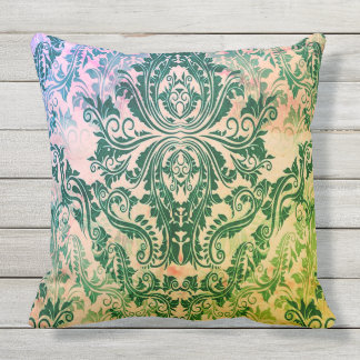 Attic-Find-Hippie_Flowering Cabbage*(c)- Throw Pillow