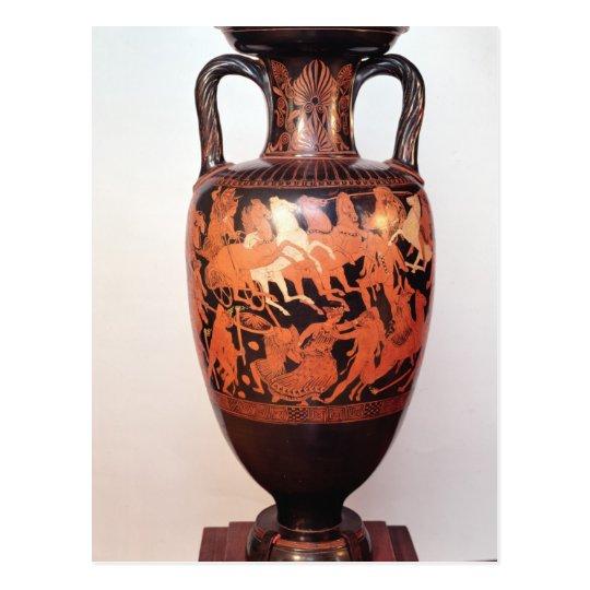 Attic red figure amphora postcard