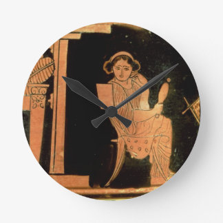 Attic red figure pyxis depicting a bride, 5th cent wallclock