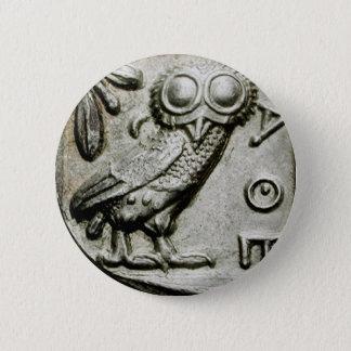 Attica Tetradrachm Owlthena 2 Inch Round Button
