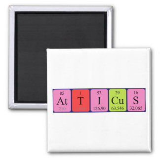 Atticus periodic table name magnet