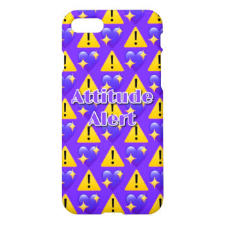Attitude Alert (Purple) iPhone 7 Glossy Case