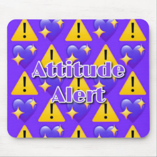Attitude Alert (Purple) Mousepad
