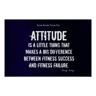 Attitude and Fitness Success #1! Poster