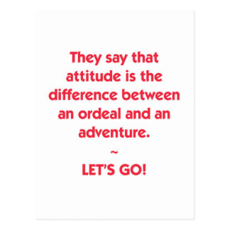 Attitude - difference between Ordeal and Adventure Postcard