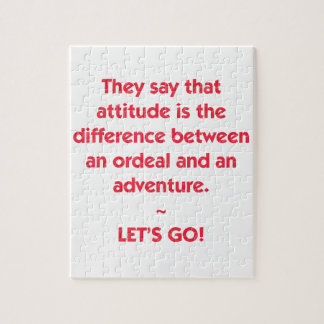 Attitude - difference between Ordeal and Adventure Puzzle
