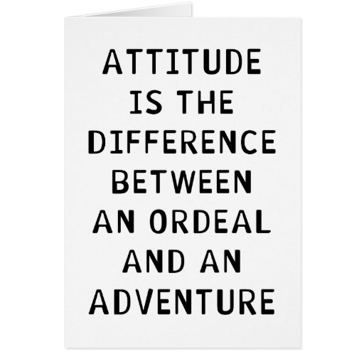 Attitude Difference Greeting Cards