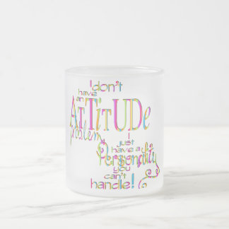 Attitude - Frosted Glass Mug