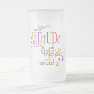 Attitude - Frosted Glass Stein