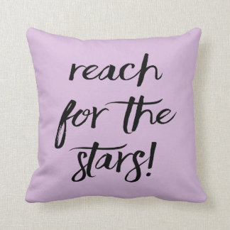 Attitude, Goals, Dreams, Success, Purple Lavender Throw Pillow