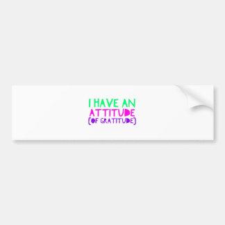 Attitude Gratitude Recovery Detox AA Bumper Sticker
