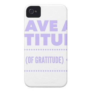 Attitude Gratitude Recovery Detox AA Case-Mate iPhone 4 Case