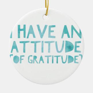 Attitude Gratitude Recovery Detox AA Ceramic Ornament