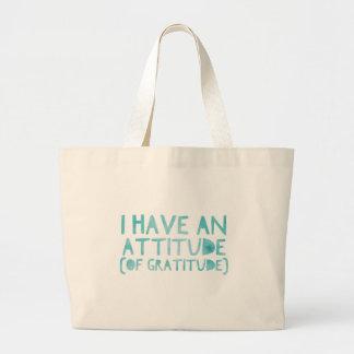 Attitude Gratitude Recovery Detox AA Large Tote Bag