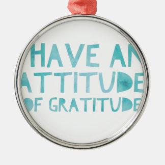 Attitude Gratitude Recovery Detox AA Metal Ornament
