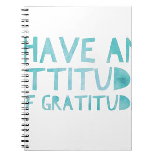 Attitude Gratitude Recovery Detox AA Notebook