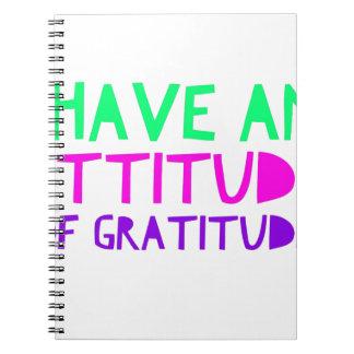 Attitude Gratitude Recovery Detox AA Notebooks