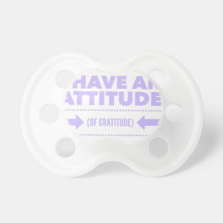 Attitude Gratitude Recovery Detox AA Pacifier