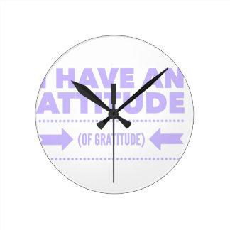 Attitude Gratitude Recovery Detox AA Round Clock