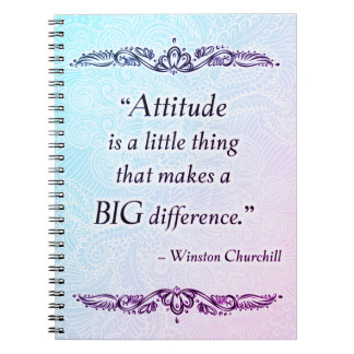 Attitude is a little thing - Positive Quote´s Notebook
