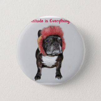 attitude is everything cute dog 2 inch round button
