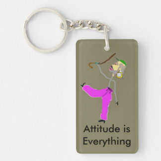 Attitude is Everything - Dancing with Cane Keychain