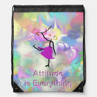 Attitude is Everything - Dancing with Canes Drawstring Bag