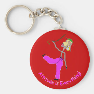 Attitude is Everything-Dancing with Canes Keychain