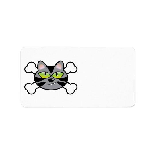 attitude kitty cat and crossbones