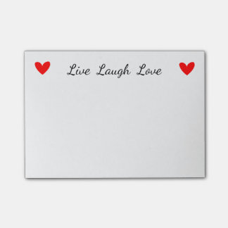 Attitude Live Laugh Love Red Heart Motivational Post-it Notes