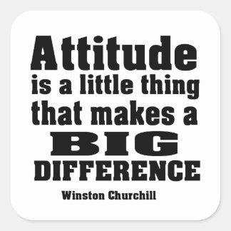 Attitude makes a big difference square sticker