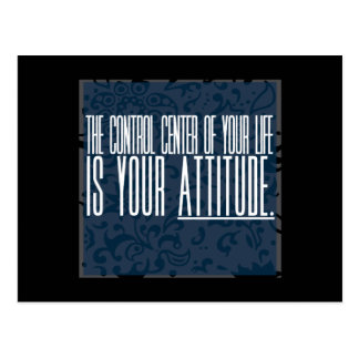 'Attitude' motivational postcard