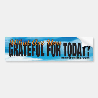 Attitude of Gratitude Sticker Bumper Sticker