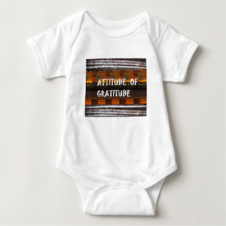 ATTITUDE of Gratitude  Text Wisdom Words Baby Bodysuit