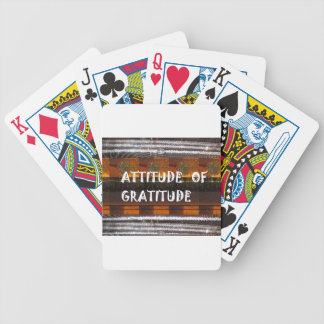 ATTITUDE of Gratitude  Text Wisdom Words Bicycle Playing Cards